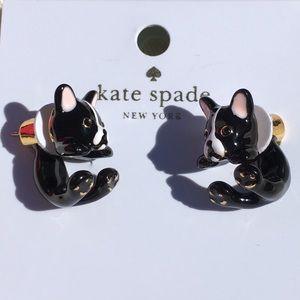 Boston terrier kate spade ♠️ earrings